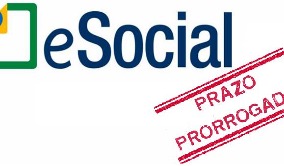 eSocial prorrogado